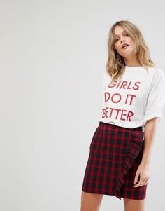 Футболка с надписью Girls Do It Better Missguided - Белый