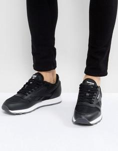 Кожаные кроссовки Reebok Classic NM - Черный