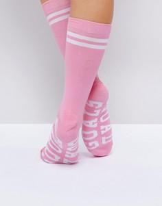 Носки с надписью Squad Goals Adolescent - Розовый