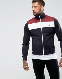 Темно-синяя спортивная куртка колор блок Fred Perry Sports Authentic - Темно-синий