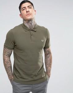 Оливковая облегающая футболка-поло Fred Perry - Зеленый