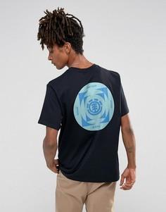 Черная футболка с принтом на спине Element - Черный