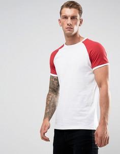 Белая обтягивающая футболка с контрастной отделкой YOURTURN - Серый