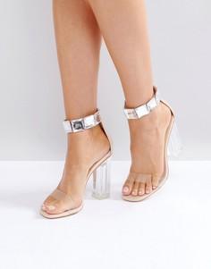 Босоножки на каблуке с декоративной отделкой Public Desire - Бежевый