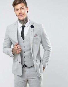 Облегающий пиджак Harry Brown - Серый