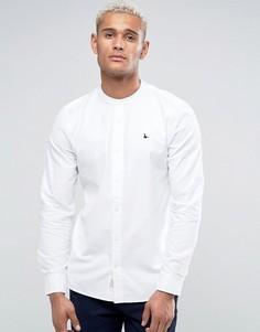 Белая рубашка классического кроя с воротником на пуговицах Jack Wills - Белый