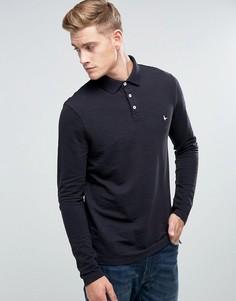 Темно-синяя футболка-поло с длинным рукавом Jack Wills - Темно-синий