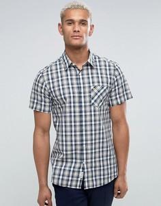 Темно-синяя клетчатая рубашка классического кроя с короткими рукавами Jack Wills - Темно-синий