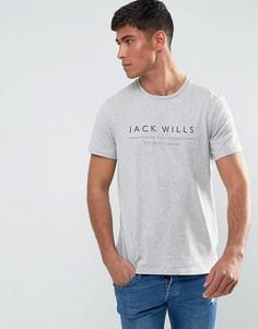 Светло-серая меланжевая футболка Jack Wills Westmore - Серый