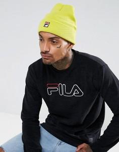 Желтая шапка-бини с логотипом Fila - Желтый