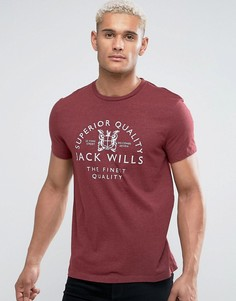 Футболка Jack Wills Westmore Damson - Красный
