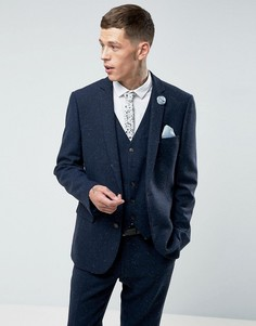 Пиджак из донегаля Harry Brown - Темно-синий