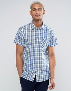 Клетчатая рубашка классического кроя с короткими рукавами Jack Wills - Синий