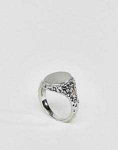 Кольцо-печатка Pieces - Серебряный
