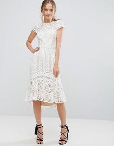 Кружевное платье с баской Coast Dee Dee - Белый