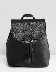 Рюкзак с кисточками Pieces - Черный