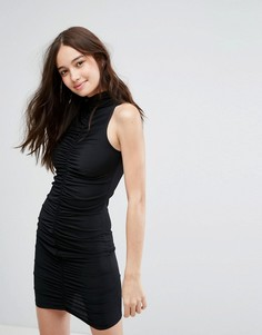 Облегающее платье мини со сборками New Look - Черный