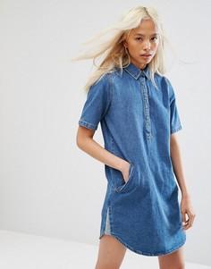Джинсовое платье с воротником Noisy May - Синий