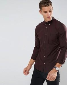 Облегающая оксфордская рубашка Selected Homme - Красный