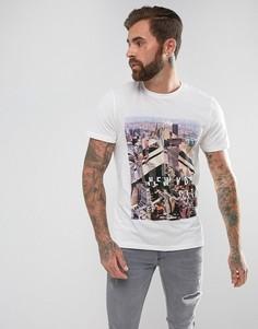 Белая футболка с принтом New York New Look - Белый