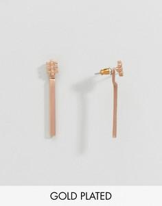 Серьги-подвески Pilgrim - Золотой