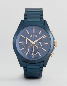 Синие наручные часы с хронографом Armani Exchange AX2607 44 мм - Черный