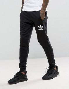 Черные джоггеры с 3 полосками adidas Originals BS4629 - Черный