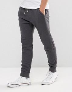 Серые узкие джоггеры с манжетами Abercrombie & Fitch - Серый