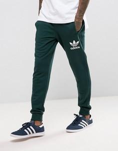 Зеленые джоггеры с 3 полосками adidas Originals BS4637 - Зеленый