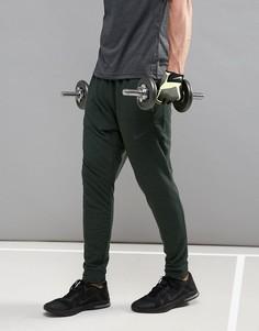 Зеленые флисовые штаны из быстросохнущей ткани Dri-FIT Nike Training 742212-332 - Зеленый