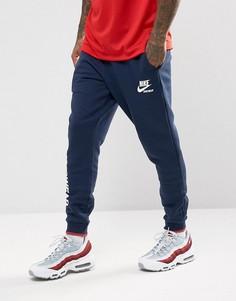 Темно-синие флисовые джоггеры Nike Archive 923484-451 - Темно-синий