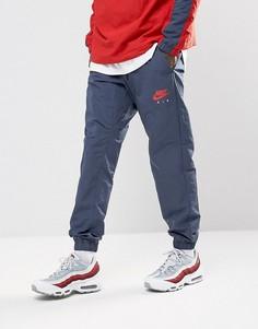 Синие тканые брюки Nike Air 861630-471 - Синий