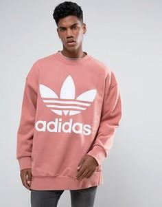 Свободный розовый свитшот adidas Originals BQ1975 - Розовый
