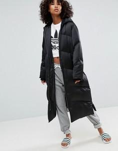 Длинная дутая куртка ASOS - Черный