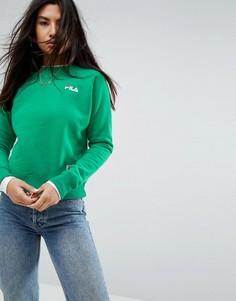 Oversize-свитшот бойфренда с логотипом на груди Fila - Зеленый