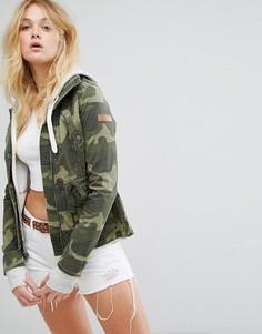 Многослойная куртка в стиле милитари Hollister - Зеленый