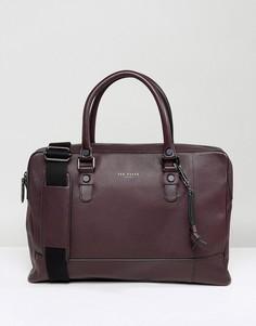 Кожаная сумка для документов Ted Baker Jager - Фиолетовый