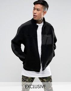 Черная куртка из искусственного меха Puma эксклюзивно для ASOS - Черный