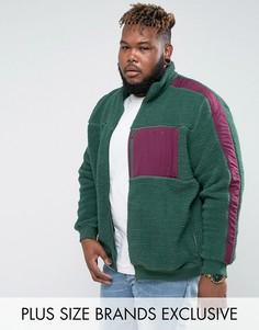 Зеленая куртка из искусственной цигейки Puma PLUS эксклюзивно для ASOS - Зеленый