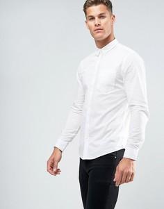 Белая хлопковая рубашка стандартного кроя New Look - Белый