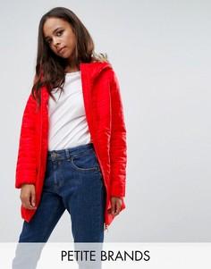 Стеганое пальто с отделкой из искусственного меха и поясом Vero Moda Petite - Мульти
