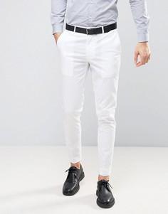 Белые брюки скинни из эластичного хлопка ASOS - Белый