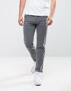 Светло-серые эластичные джинсы слим Diesel Belther 0681D - Серый
