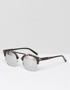 Черепаховые солнцезащитные очки в стиле ретро 7X - Коричневый