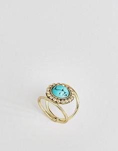 Кольцо с камнем ASOS - Синий