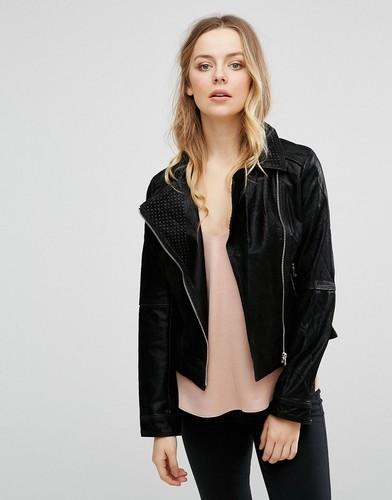 Байкерская куртка с асимметричной молнией Lavand - Черный
