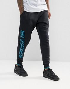 Черные флисовые джоггеры Nike Archive 923484-010 - Черный