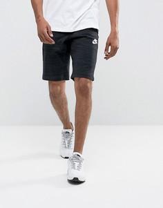 Черные трикотажные шорты Nike Advanced 837014-010 - Черный