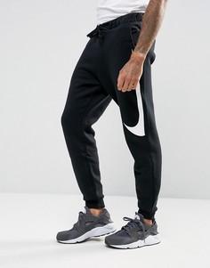 Черные джоггеры с логотипом-галочкой Nike Hybrid 861720-011 - Черный