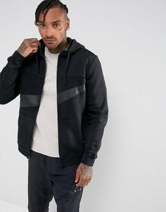 Худи черного цвета с молнией Nike Hybrid 861712-011 - Черный